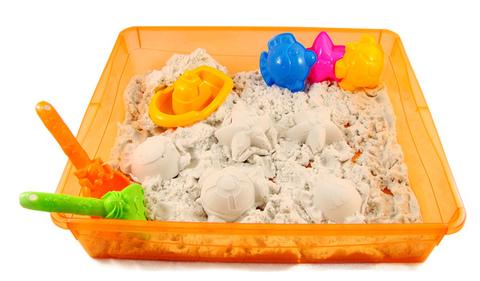 Контейнер с формочками - для игр и хранения песка