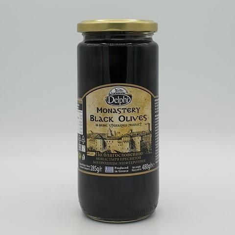 Маслины с косточкой в рассоле Монастырские DELPHI, 480 гр