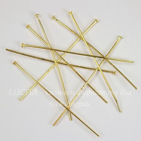 Комплект пинов - гвоздиков 50х0,8 мм (цвет - золото), 20 гр (примерно 100 шт)