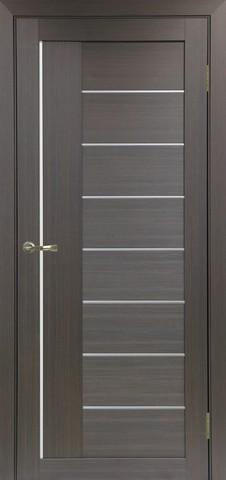 Дверь Optima Porte Турин 524.21, стекло Мателюкс, цвет венге, остекленная