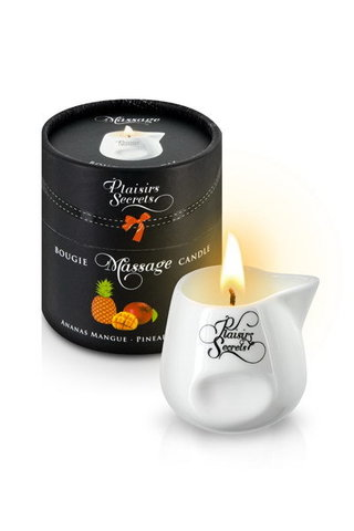 MASSAGE CANDLE PINEAPPLE MANGO Свеча с массажным маслом 80 мл