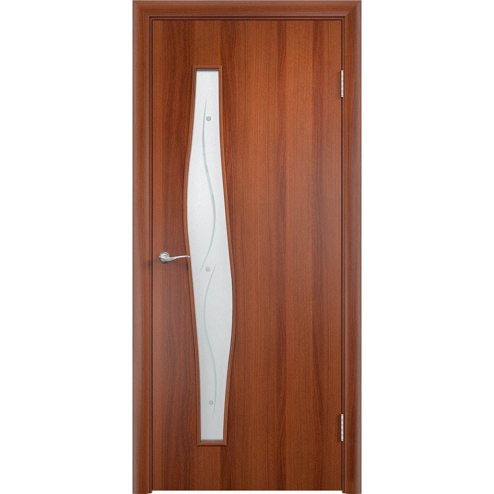 Ламинированные двери Волна итальянский орех со стеклом фьюзинг volna-pof-ital-oreh-dvertsov-min.jpg