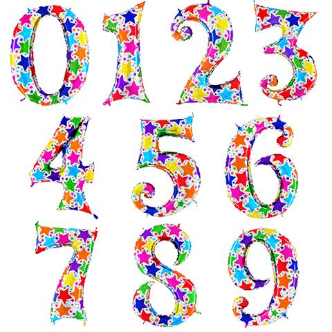 Голографические Цифры со звездами