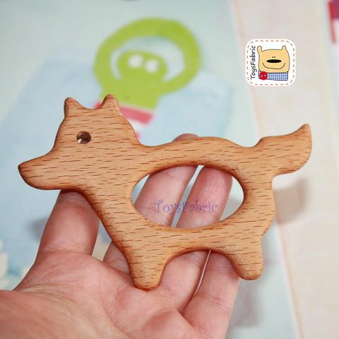 Грызунок деревянный (бук) 11х7,5см Волк ГР08