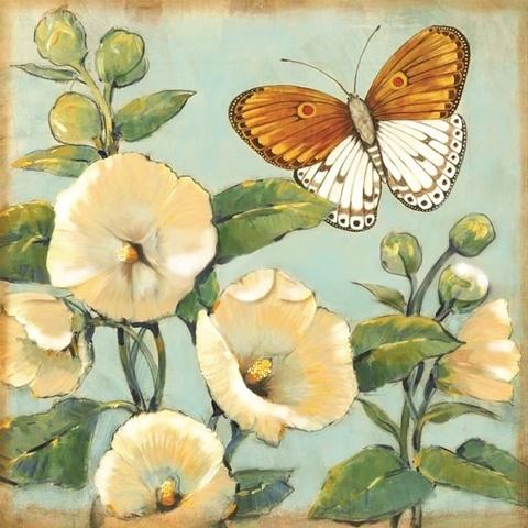 Белые цветы- алмазная картина