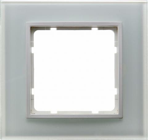 Рамка на 1 пост стекло. Цвет Полярная белизна. Berker (Беркер). B.7. 10116909