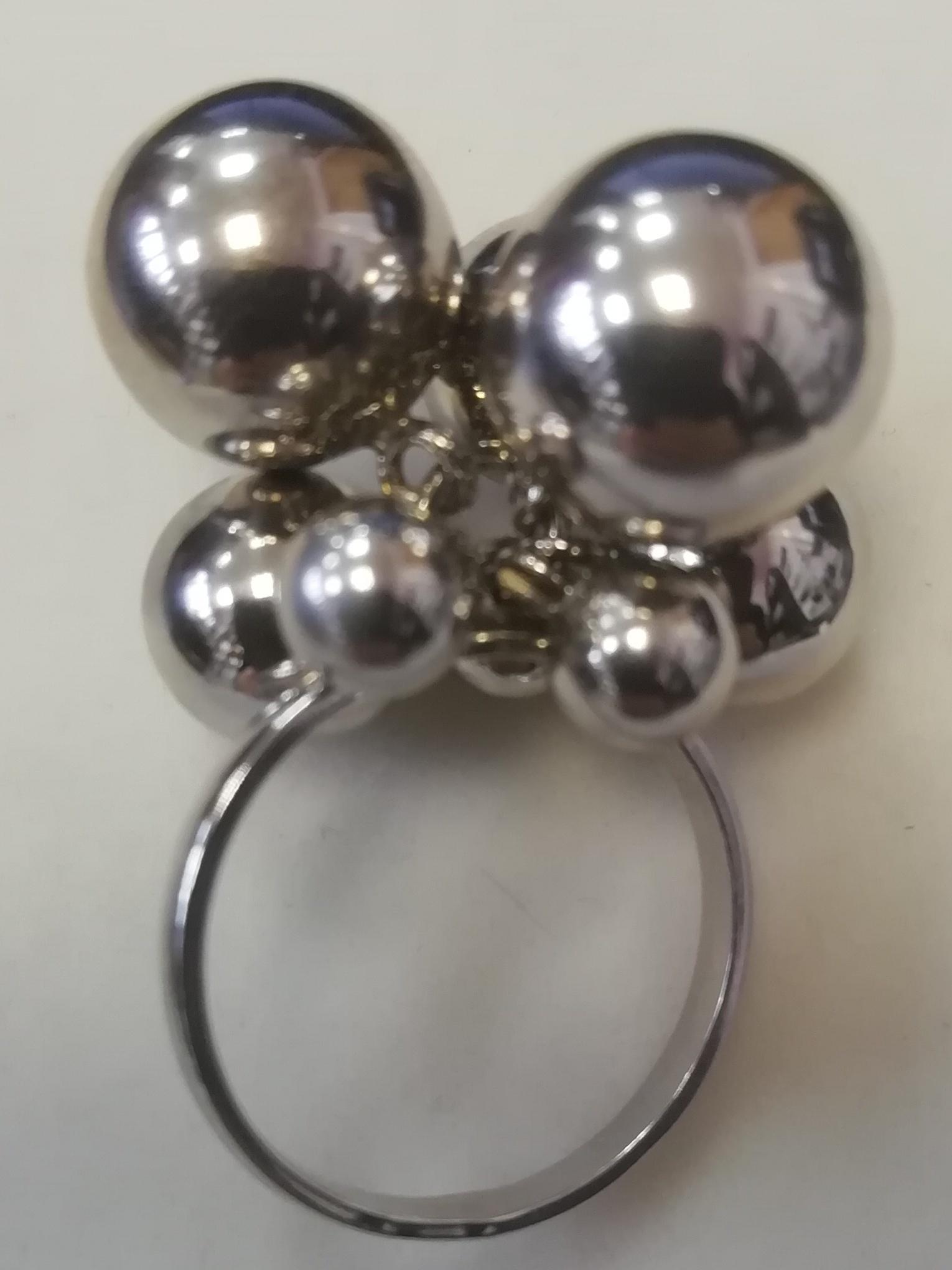 Шарики 2+3+2 (кольцо из серебра)