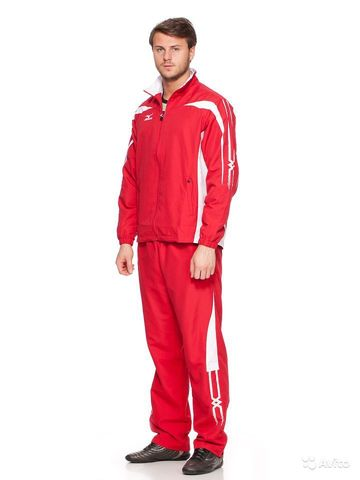 Мужской спортивный костюм мужской Mizuno Woven Track Suit red (60WW051 62)