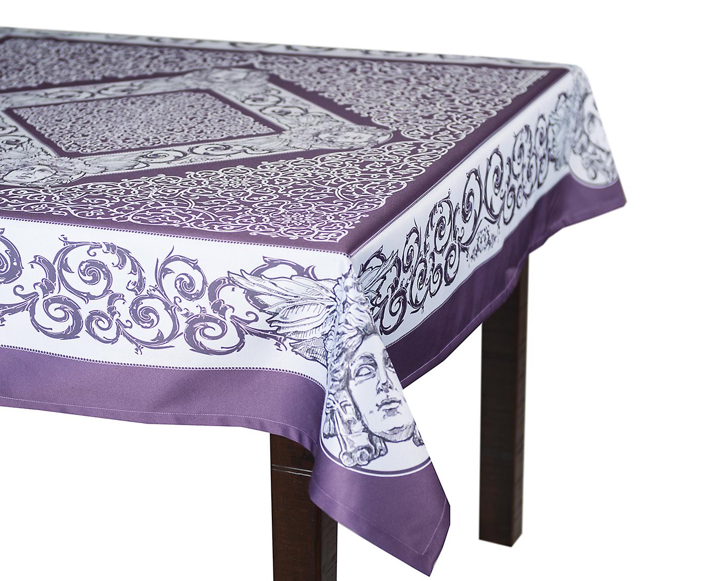Скатерть 140x180 Blonder Home Chronos фиолетовая