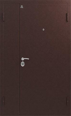 Дверь входная Сибирь S-3 двустворчатая (1250*2050), 1 замок, 1,5 мм  металл, (медь+медь)
