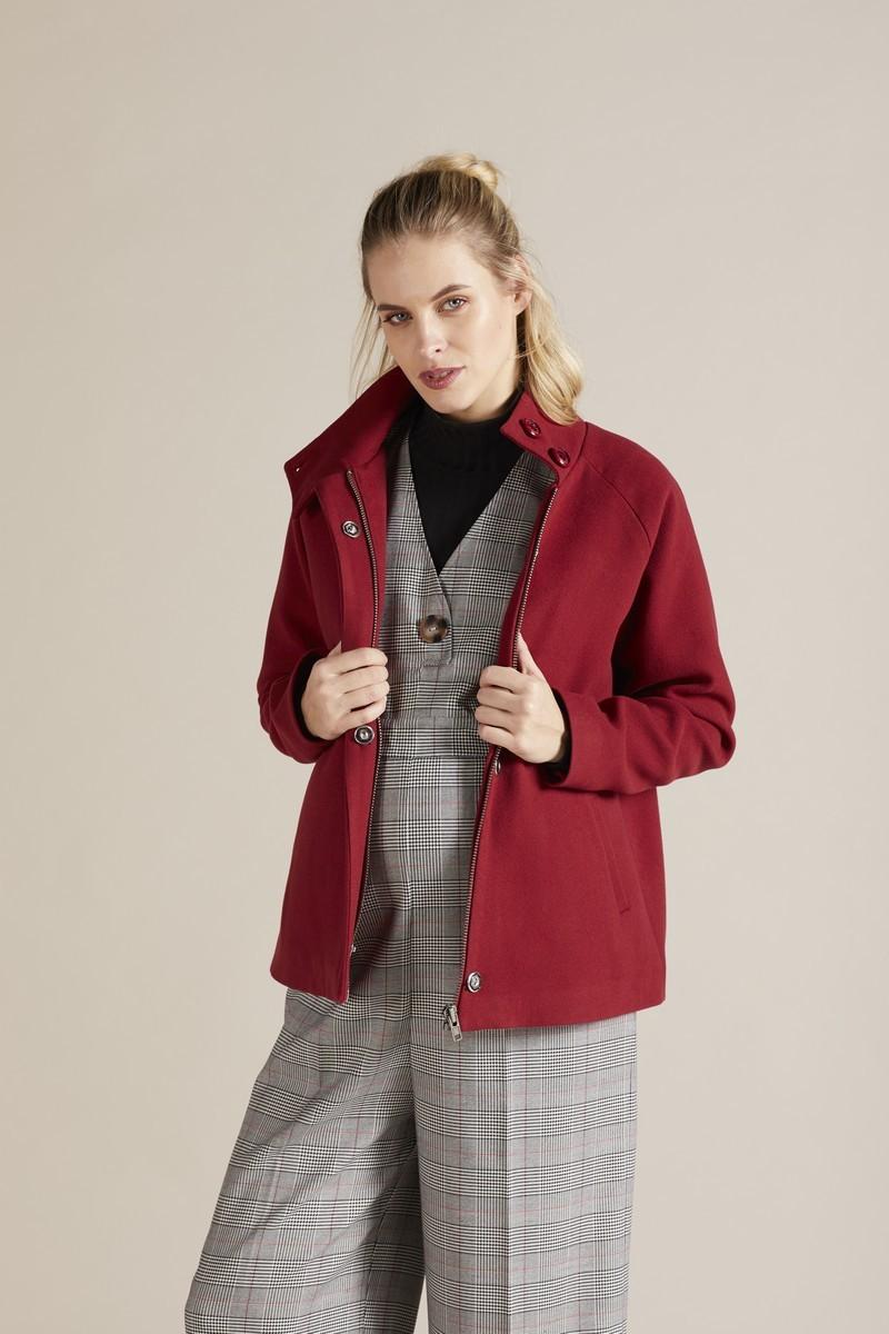 Пальто 09729 темно-красный