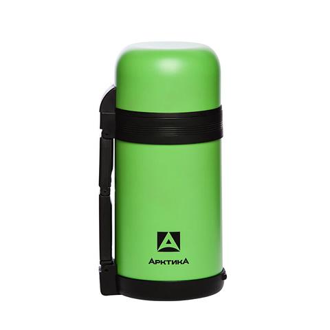 Термос универсальный (для еды и напитков) Арктика (1 литр) с широким горлом, зеленый
