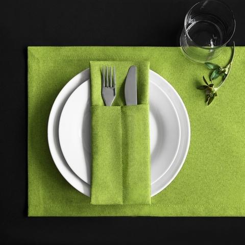 Набор кувертов Джейн зеленый