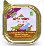 Almo Nature Daily Menu Bio Pate Veal&Vegetables Консервы для собак с телятиной и овощами (паштет) 32х100 г. (Ламистр) (10173)