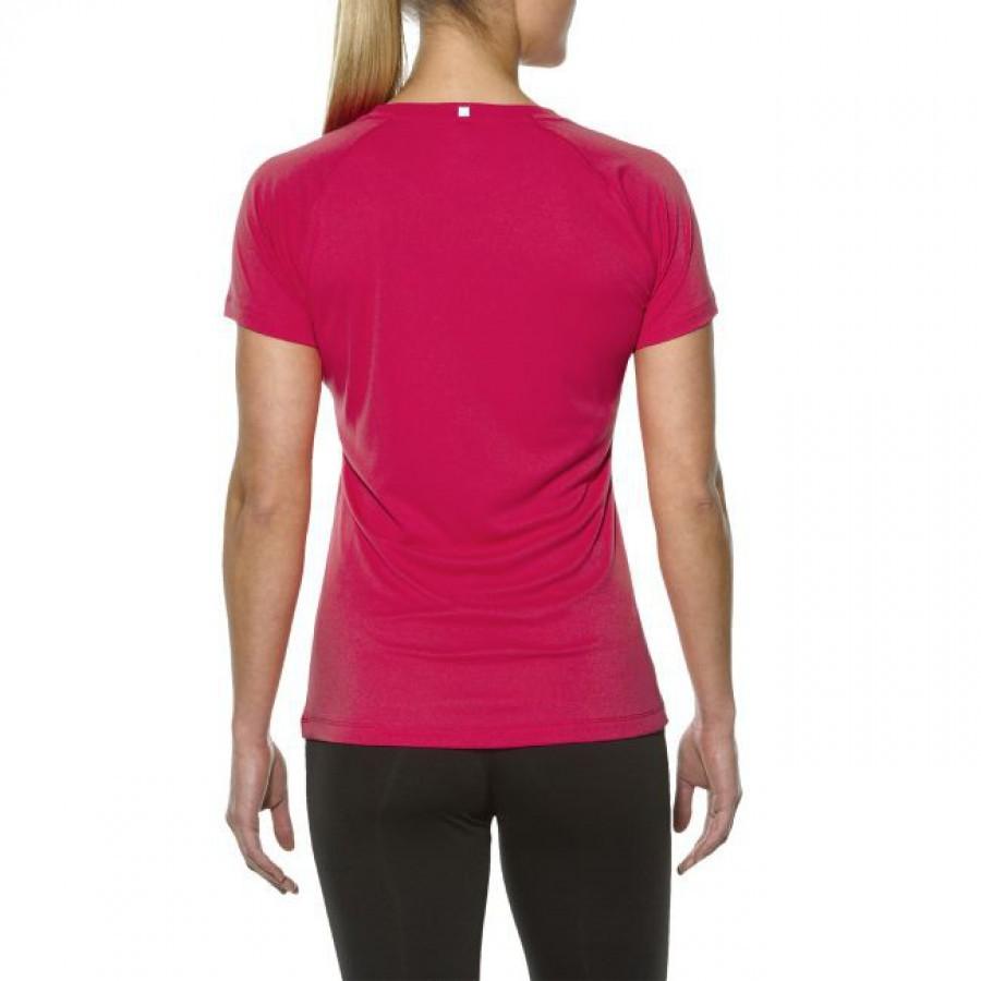 Женская спортивная беговая футболка Asics Stripe SS Top (126232 6016) розовая