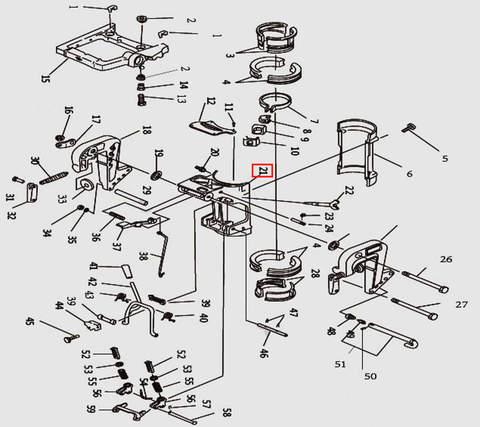 Скоба струбцины А для лодочного мотора T9.8 Sea-PRO (11-21)