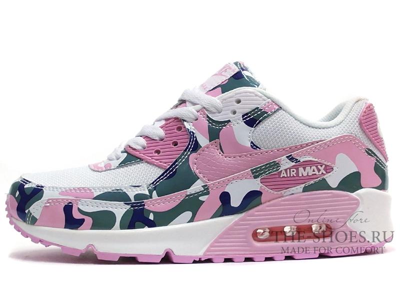 8e02d096116c ... Кроссовки Женские Nike Air Max 90 Essential White Pink Camo. Артикул
