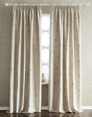 Комплект штор с подхватами Стейн кремовый