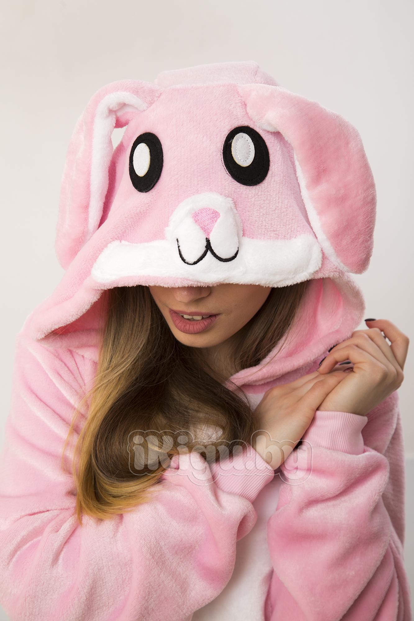 Пижамы кигуруми Заяц Нежно - Розовый IMG_8814.jpg