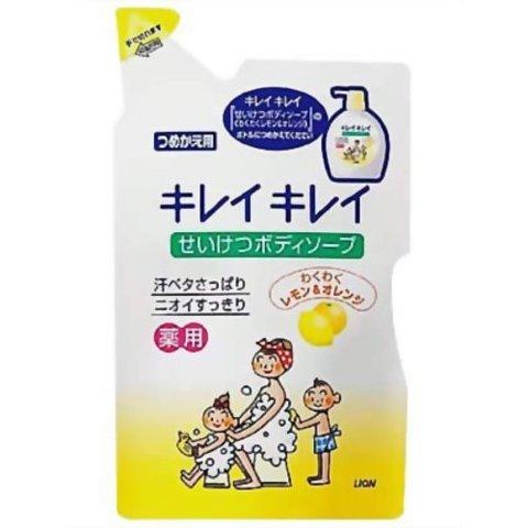 Жидкое мыло, Lion, KireiKirei, для чувствительной кожи, лимон и апельсин, сменный блок, 420 мл