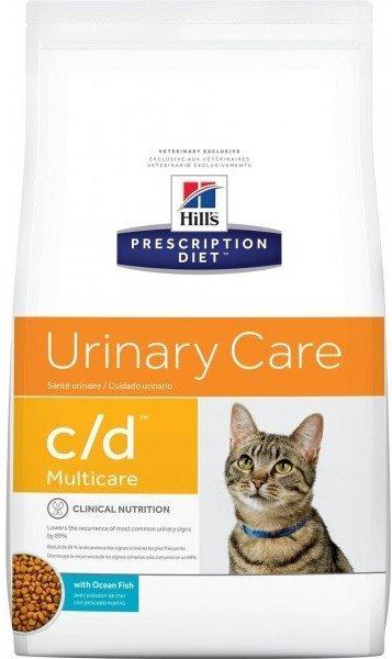 Сухой корм Ветеринарный корм для кошек при заболевания мочевыводящих путей  Hill`s Prescription Diet c/d  с океанической рыбой цдрыба.jpg