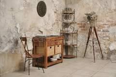 Разделочный стол Secret De Maison Люберион (Luberon) (mod 15) — дерево палисандр/натуральный камень