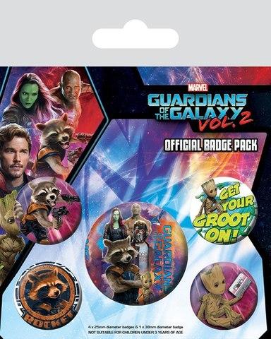 Набор значков Guardians of the Galaxy vol.2