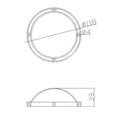 Партия 10 штук / Колпак поликарбонатный на матрицу