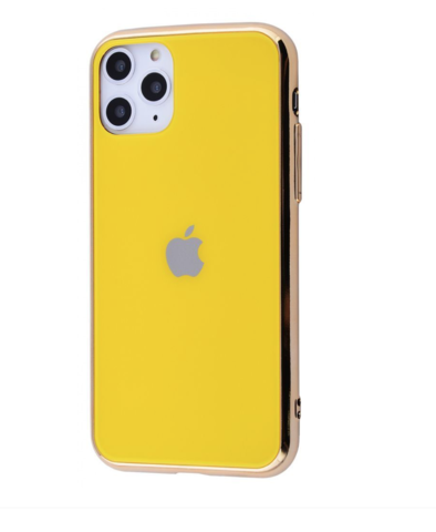 Чехол iPhone 11 Pro Max Glass Case Logo /yellow/