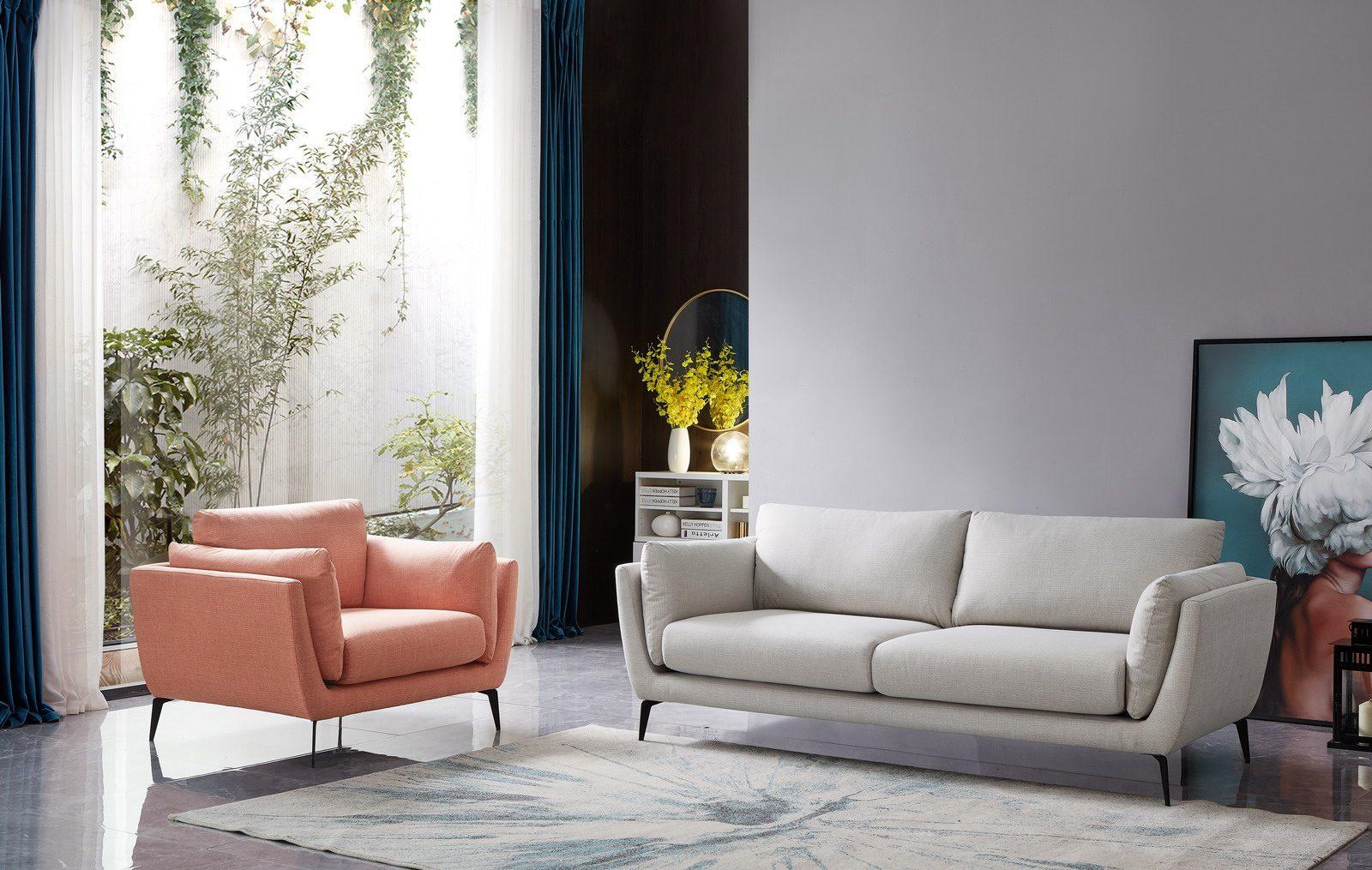Набор мягкой мебели AMSTERDAM 5176 beige+coral