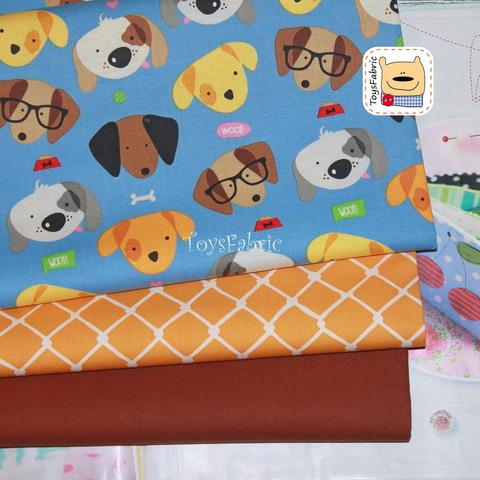 Набор тканей для пэчворка 51786 Весёлые собаки (45х35см/3шт.)