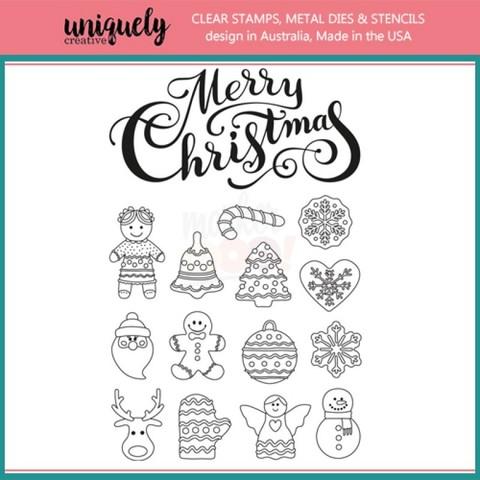 Силиконовые штампы Uniquely Creative - Christmas Cookies
