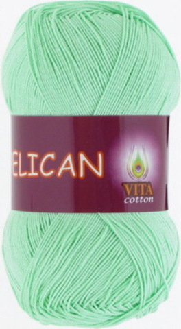 Пряжа Pelican (Vita cotton) 3964 Светло-салатовый