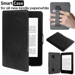 Чехол Hard Case Magnetic Cover with Hand Grip с фиксатором на руку для Amazon Kindle Paperwhite Black Черный