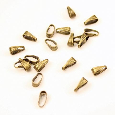 Бейл - петелька 7х3 мм (цвет - античная бронза), 20 штук