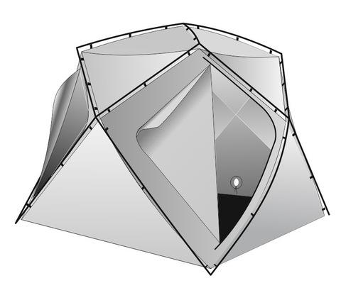 Внутренний тент утепленный ЛОТОС Куб 180х210х210