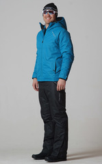 Утеплённый прогулочный лыжный костюм Motion Marine/Black