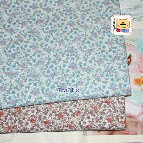 Корейский хлопок 20849 (ретро цветы бежевые) 45х55см