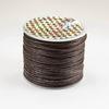 Шнур вощеный, 1 мм, цвет - коричневый, примерно 25 м