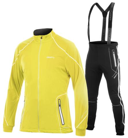 CRAFT HIGH FUNCTION ZIP мужской лыжный костюм желтый