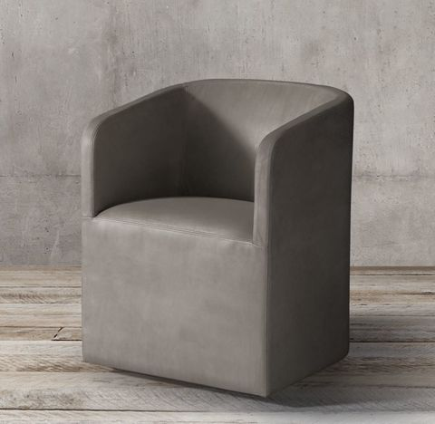 Ellison Barrelback Leather Armchair