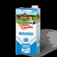 """Молоко """"Домик в деревне"""" ультрапастеризованное 1,5%, 950 г"""