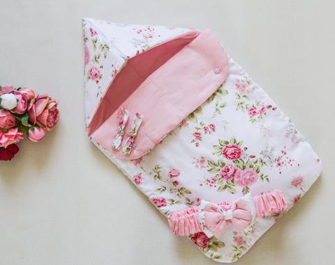 Летний конверт на выписку Розовый сад