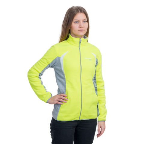 Куртка женская Астра флис, цвет: коралловый, салатовый