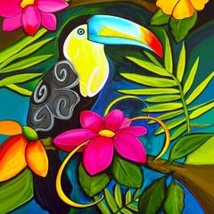 Тропический рай- алмазная картина