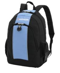 Рюкзак WENGER, цвет чёрный/голубой (17222315)