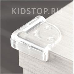 Накладки на углы, 4 шт., прозрачные