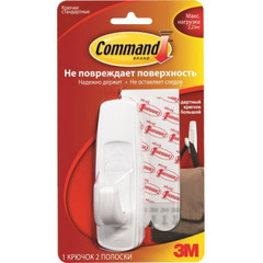 Крючок Command белый 2,25 кг., 1 шт./2 пол.
