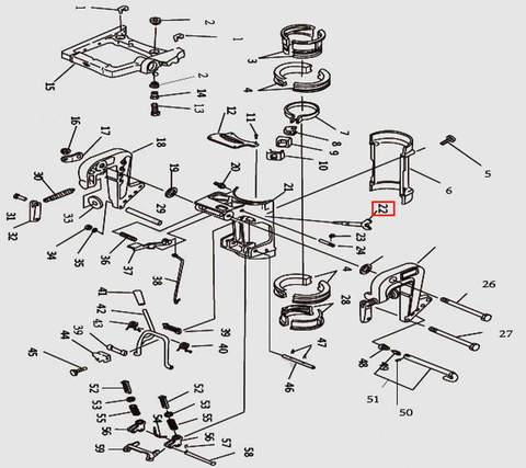 Болт регулировочный для лодочного мотора T9.8 Sea-PRO (11-22)