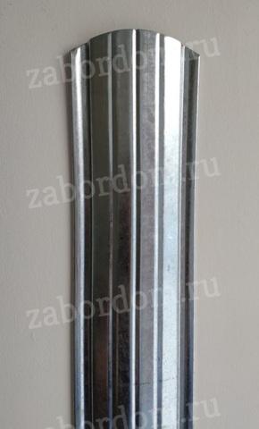 Евроштакетник металлический 110 мм цинк полукруглый 0.5 мм